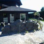 artificial rock retaining wall