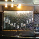 bar indoor waterfall display rack