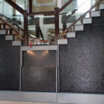custom stairwell waterfall indoor fountain decor