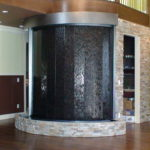 indoor curved waterfall stainless steel frame