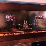 indoor water wall bar mirror waterfall fountain