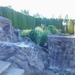 fiberglass rock panel waterfall