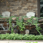 stacked stone waterfall