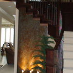 stairway water feature design ideas