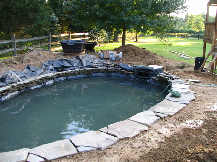 Garden waterfalls waterfallnow for Pond building ideas