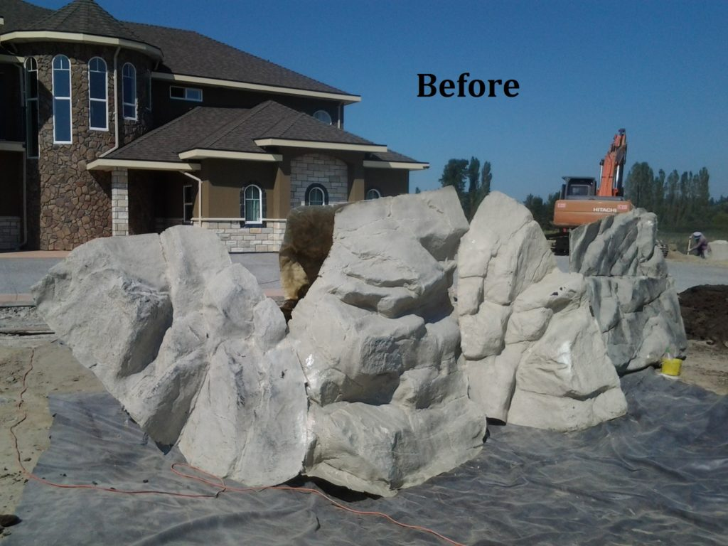 Artificial rock waterfalls a booming trend water for Landscaping rocks vancouver