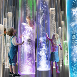 Acrylic Tube Bubble Column Water Features