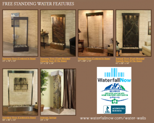 free standing water features