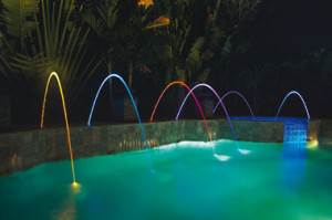 Luxury Pool Water Features Custom Rocks Fountains Jets