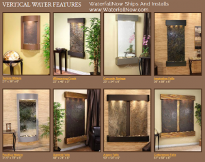 vertical water features