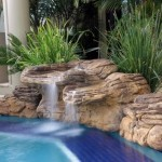 pool edge waterfall