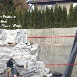 rock wall 1413 backyard west vancouver