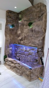 waterfallnow indoor aquarium style rock wall water feature