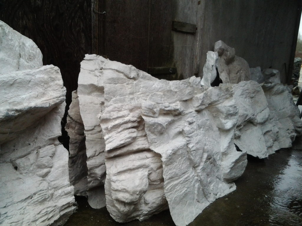 Waterfallnow Fiberglass Artificial Rock Panels