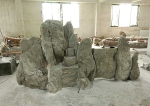 fiberglass concrete rockery