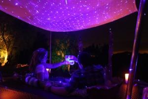 violet laser light