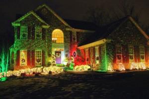 laser light display for garden
