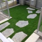 garden walkway artificial grass