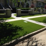 residential clean modern artificial grass looks real vancouver