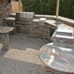 backyard bbq pit installation custom built vancouver