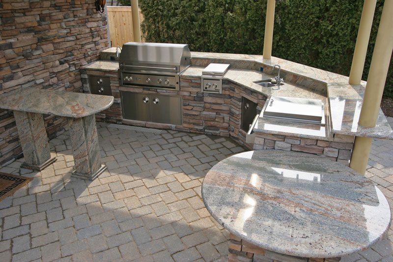 bbq pit for backyard kitchens custom built custom water