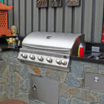 custom backyard bbq pit