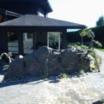 artificial rock retaining wall