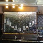 bar indoor waterfall display rack