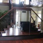 custom mirror waterfall indoor stairway