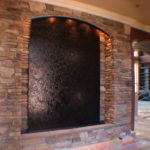custom waterfall stone water wall