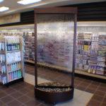 floor standing glass waterfall fountain