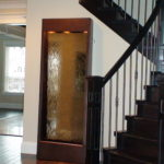 floor standing waterfall copper trim