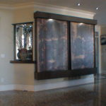 indoor large copper wall mount waterfall fountain