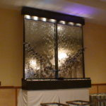 indoor restaurant banquet hall mirror glass waterfall fountain wall