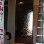 indoor waterfall copper frame mirror