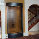 indoor waterfall fountain rounded trim