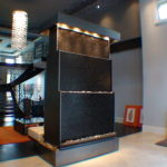 marble tiered waterfall panel feature indoor double sided