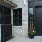 outdoor waterfall fountain entrance pondless