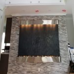 black featherstone stainless trim wall hanging waterfall