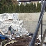 rock wall backyard
