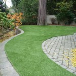 landscape paving with artificial grass custom project in vancouver