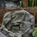 self contained pondless artificial rock waterfall