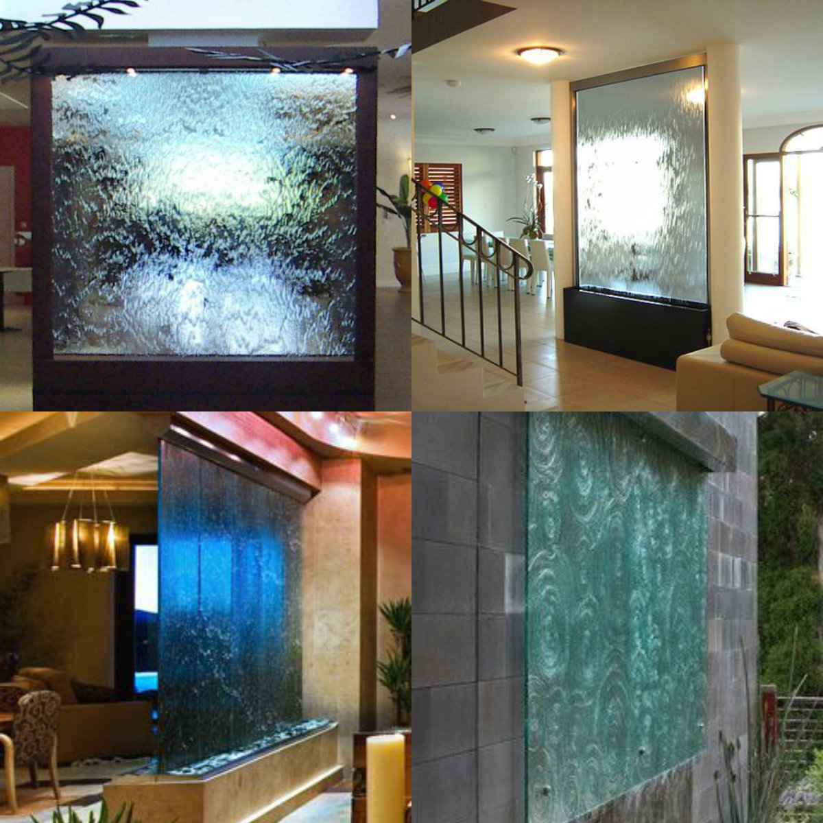custom glass water wall