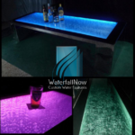 led bubble table fountain