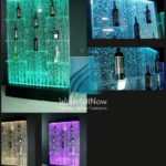 led bubble wall shelves