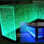 led bubble fountain table