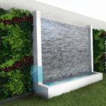 ledgestone waterwall fountain