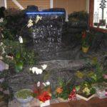 faux rock indoor fountain