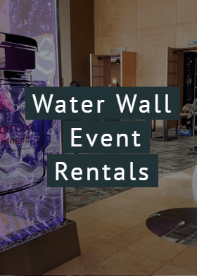 water fountain bubble wall rentals